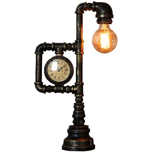GrFiti Lámpara de Mesa de mesita de Mesa de Aprendizaje de la Industria de la Industria del ático Industrial con los interruptores de Botones