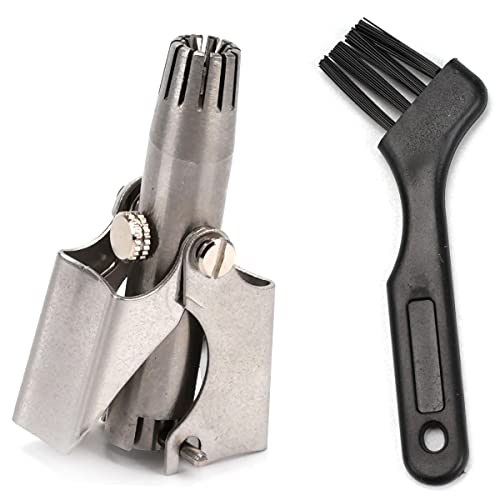 Stainless Steel Nose Hair Trimmer No Batteries Required Safety Trimmer Tool...