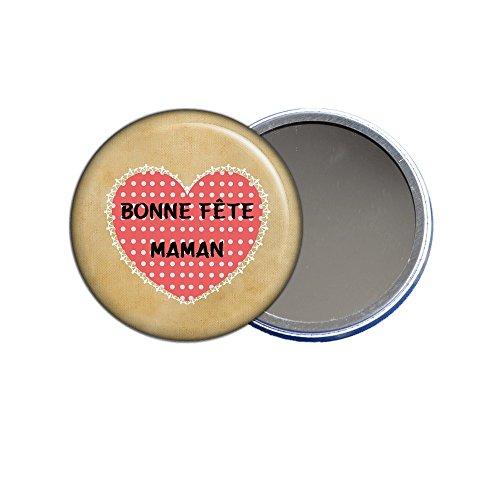 ANGORA Miroir de Poche - Bonne fête Maman