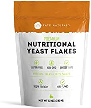 Premium Nutritional Yeast Flakes (Nooch)- Kate Naturals. Fortified. Taste Like Cheese. Perfect For Mac & Cheese Sauce, Popcorn, Salad, Cooking. Gluten-Free & Non-GMO. Resealable Bag. Vegan. (12oz).