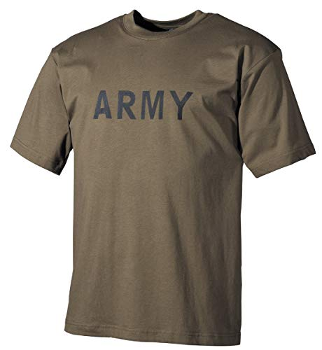 MFH US T-Shirt Army with Imprint (Olive/L)
