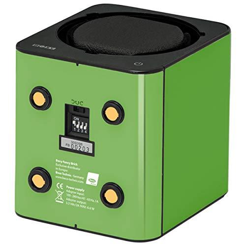 Boxy Fancy Brick Uhrenbeweger grün PRO1 mit Netzadapter - Erweiterbares Uhrenbeweger System