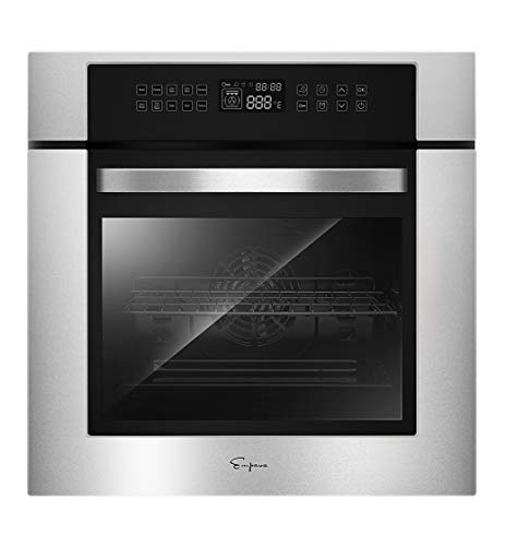 Empava 24 Inch Electric Single Wall Oven 10 Cooking Functions