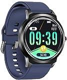 Pulsera inteligente de tacto completo, rastreador de actividad, contador de calorías, podómetro, monitoreo del sueño IP68 impermeable 1.3 pulgadas IPS color pantalla-A