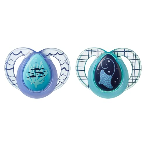 Tommee Tippee 6-18 Month Night Time Pacifier 2 Pack (Random Colors)