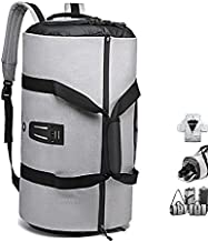 OZUKO Gym Bag Backpack, 4 in 1 Carry-on Garment Bag Large Duffel Bag Suit Travel Bag Weekend Bag Flight Bag Overnight Bag with Shoes Compartment… (Grey)