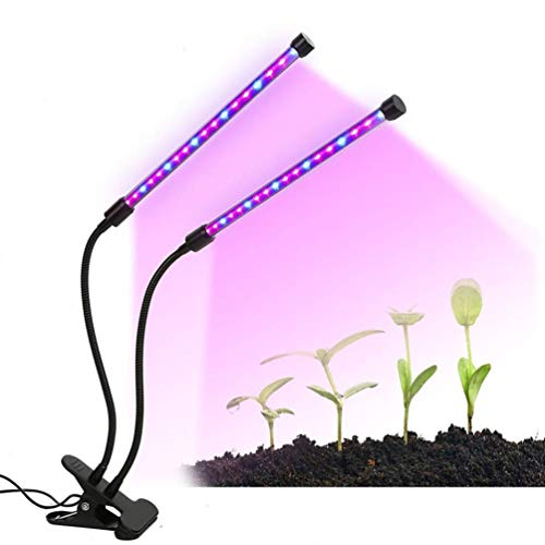 Grow Light Plant Light,20W Timing Function Dual Head 3 Modes Timer...