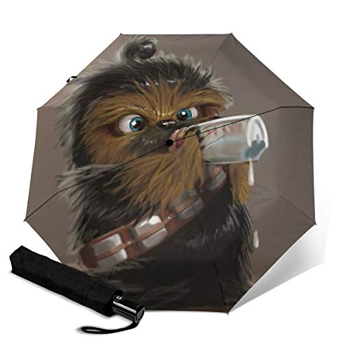 Paraguas de viaje plegable de Star Wars con tres pliegues, paraguas de...