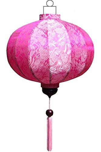 Lampionsenzo Vietnamesische Seide Lampion Rund Rosa by