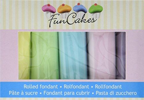 FunCakes Rollfondant Multipack Pastel Colours, 500 g