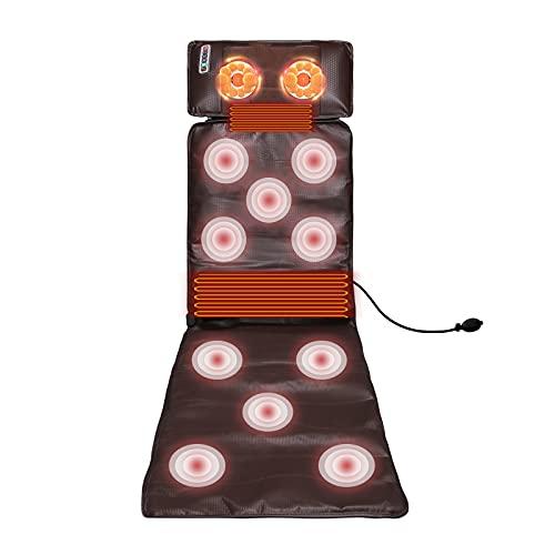 KKTECT Massage Mat,Full Body Massage Mat,Shiatsu Back Massager with 10 Vibration Motors Massage...