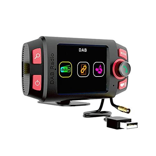 Jeromeki Adaptador de Radio Dab + / Dab para Coche de 2,4 Pulgadas, Transmisor FM con Manos Libres y Reproductor de MP3 para Coche con ReproduccióN de MúSica
