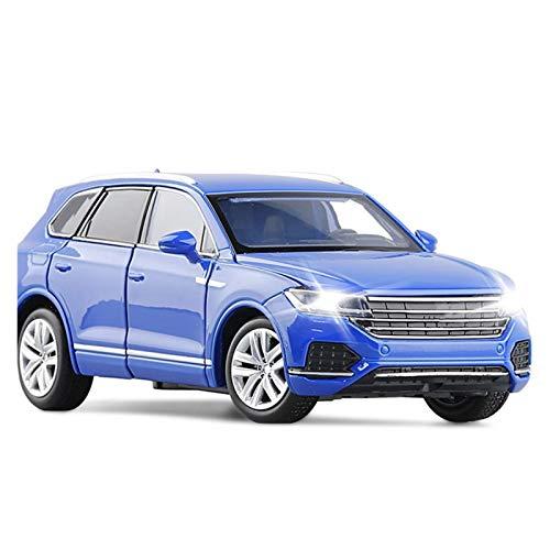 HCEB 1:32 para Touareg Alloy Auto Modelo Simulación Diecasts Vehículos de Juguete SUV to-y Cars Juguetes para niños para Niños Regalos Niño Chica Juguete (Color : Azul)