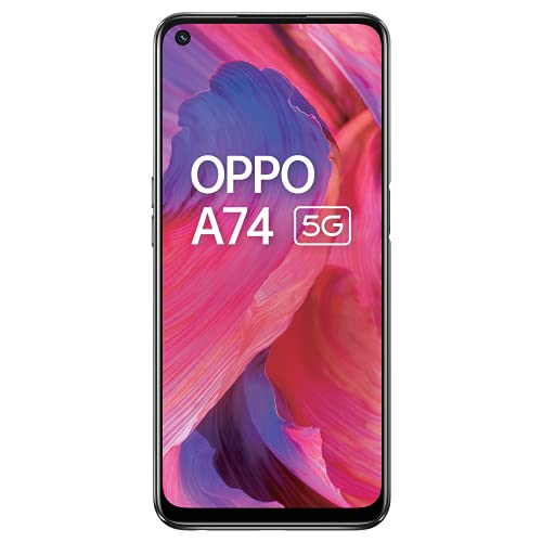 OPPO A74 5G (Fluid Black, 6GB RAM, 128GB Storage)