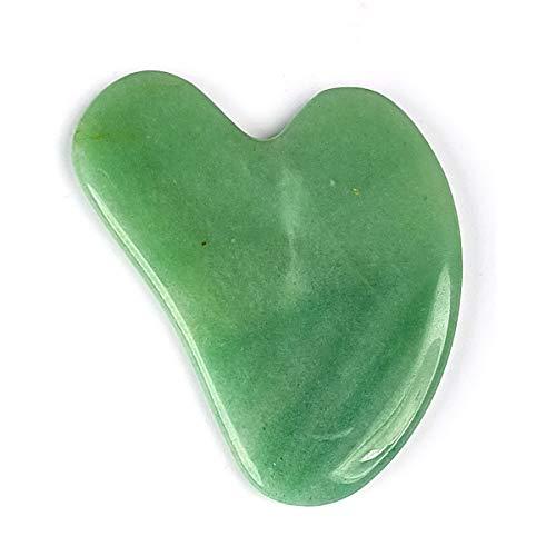 Reiki Crystal Products Green Aventurine Gua Sha Stone Scraping Massage Tool
