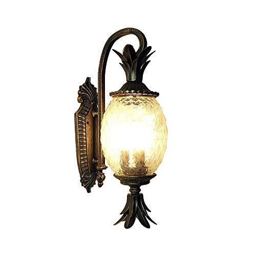KMYX Creative Pineapple Mur Lampe en Verre Antique Porche Lanterne Murale for Les Murs Accueil Portes Courtyards Lofts Balcons IP55 étanche Aisles (Taille : H:56.5vm)