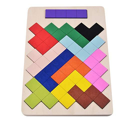 Lineary Baby Block Toys Juguete de Madera para niños Tetris Puzzle Toy Toy Blocks para niños Educación temprana Juguete Colorido para los Primeros niños