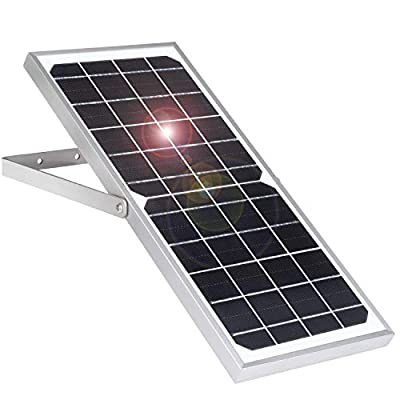 iTODOS Solar Panel Works for Arlo Pro 2 and Arlo Pro, 7.5W Excellent Charging Performance to Keep Your Camera Get Enough Power,Not for Arlo Ultra and Arlo Pro3(Silver)