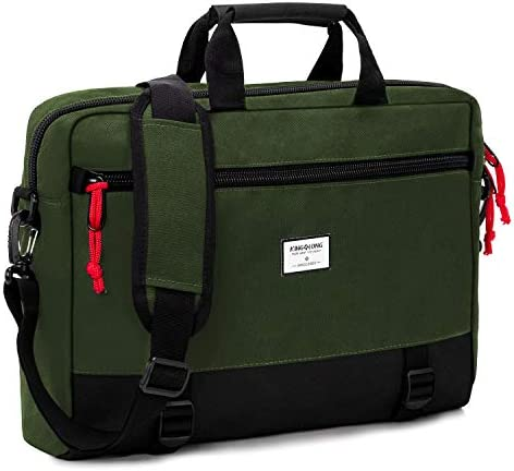 KINGSLONG 15 15 6 Inch Convertible Backpack Laptop Shoulder Bag Messenger Bag Case Business product image