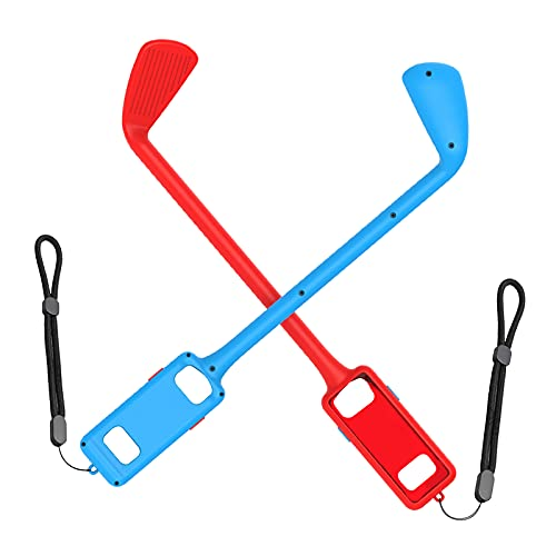 balikha 2er Pack Links Rechts Golfspielgriff mit Handschlaufen für Switch Golfschläger - rot blau
