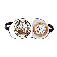 アメリカ ニューヨーク古典的な地方の都市 睡眠時計旅行昼休み眼帯