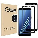 RHESHINE Panzerglas Schutzfolie für Samsung Galaxy A8 Plus 2018 [2 Stück], 9H Festigkeit Bildschirmschutzfolie Gehärtetes Glas 3D Vollständige Abdeckung, Kratzfest, Blasenfreie, Anti-Öl & Fingerabdruck