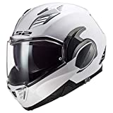 LS2 Helmets Valiant II Modular Helmet (Gloss White - X-Large)