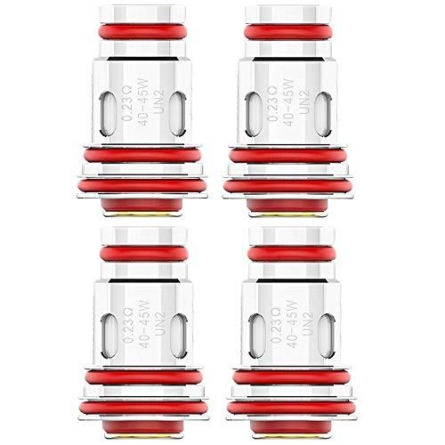 Uwell UN2 Meshed-H Coils (0,23 Ohm), Aeglos DL Verdampferköpfe für e-Zigarette, 4 Stück
