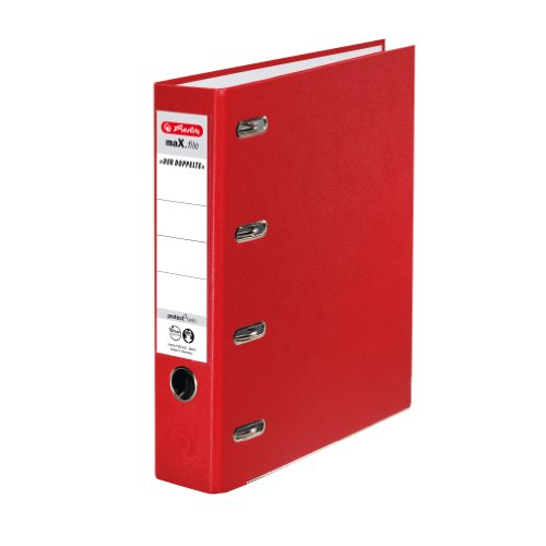 Herlitz 10842268 Doppelordner maX.file protect A4 rot FSC Mixed