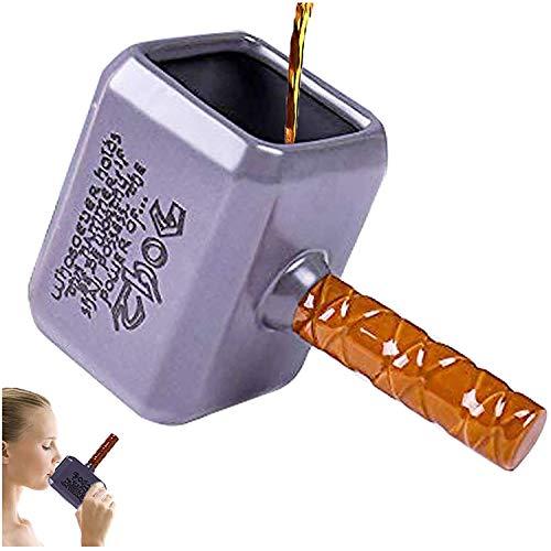 ZONSUSE Tazza in Ceramica 3D, Tazza da caffè Creativa del Fumetto, Classica Forma a Martello di Thor, utilizzata per la Raccolta di Regali Decorativi, 550 ml,Marvel Thor Mjolnir Mug