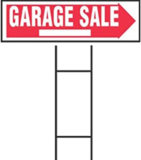 Hy-Ko Products RS-804 Garage Sale Corrugated Plastic Sign w/ H Bracket 9.25