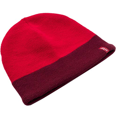 Levi`s Beanie Strick Mütze Fleece Lined 230778 11 Brilliant red (88)
