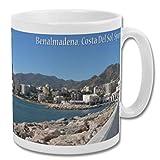 Benalmadena Costa del Sol Mar de España - Taza de recuerdo de 10 oz