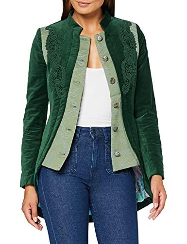 Joe Browns Summer Velvet Jacket Chaqueta de Terciopelo de Verano, A-Verde, 46 para Mujer