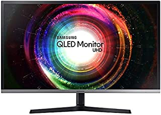 "Samsung LU32H850UMEXXS UHD Height Adjustable QLED Monitor with Quantum Dot Colours, 31.5"", Black/Silver"
