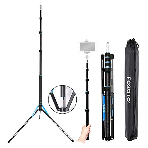 FOSOTO ライトスタンド カーボン製 コンパクト 携帯 ストロボスタンド クリップオンストロボ専用 多機能 重...