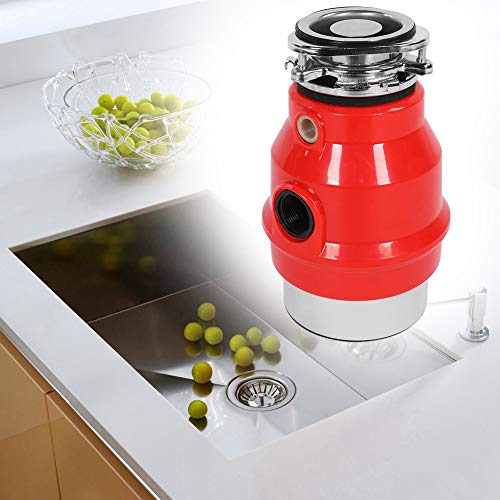 Triturador de Basura de Cocina, 3 / 4HP Eliminación Molinillo de Desperdicios de Comida, Eliminador de Residuos de Alimentos, Seguro 4000rmp 550W (Enchufe de la UE)