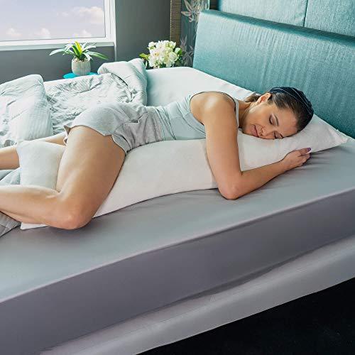 """Avana Ellipse Side Sleepers Memory Foam Body Pillow, 48"""", Bamboo,16365156"""