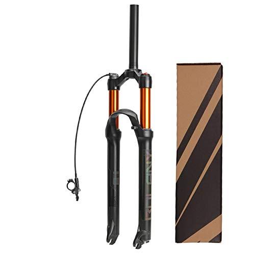ZPPZYE Forcelle Telecomandate 26 27,5 29 Pollici Ammortizzatore MTB Ultraleggero Lega di Alluminio Forcella 1-1/8' con Rimbalzo 120 mm Nero (Colore : A, Size : 26 inch)