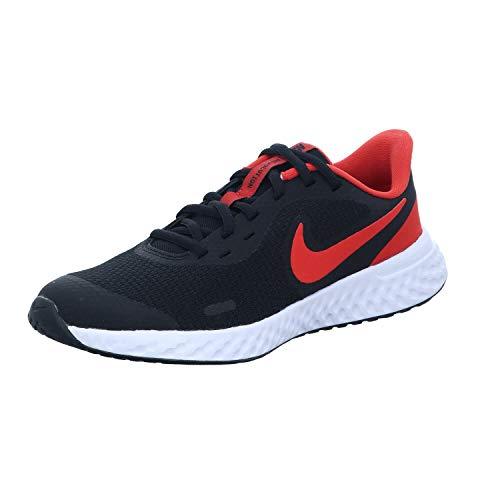 Nike Revolution 5 (GS), Zapatillas para Correr, Black Univ Red White, 36 EU