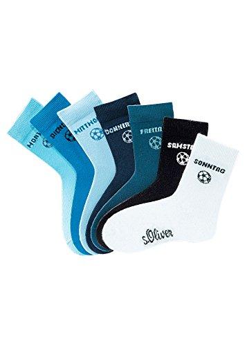 s.Oliver Wochentagssocken, s.Oliver (7 Paar) blau Socken: für jeden Wochetag eine