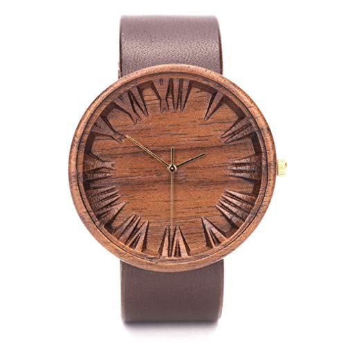 Ovi Watch, Holzuhr für Herren, Gefertigt aus Nachhaltig Angebautem Holz