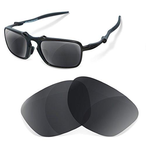 sunglasses restorer Polarisierte Erastzgläser Black Iridium für Oakley Badman