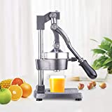 Z ZELUS Presse Agrume à Levier Mécanique, Solide et Ergonomique pour Citron, Orange Ou Autres Fruits(Gris)