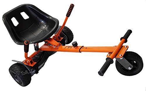 SILI® Aus Straße Suspension Kart für 2 Wheel Self Balance Scooter, verbessertes Design mit Federung unter dem Sitz (ORANGE)
