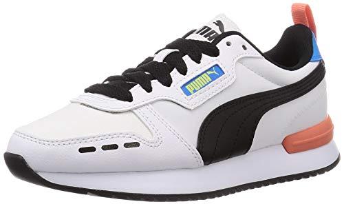 PUMA R78 Neon, Zapatillas Unisex Adulto, Blanco White Black, 37 EU