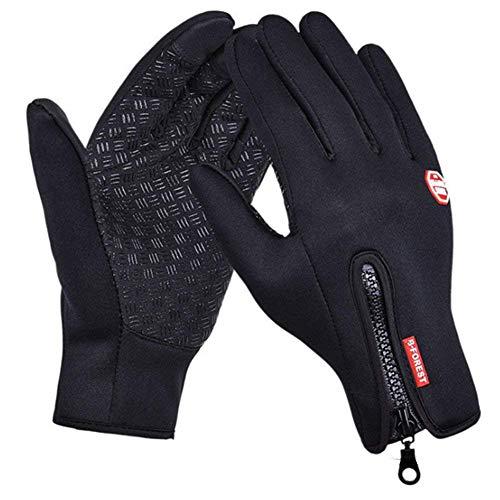 SWAMPLAND Anti-Rutsch Full Finger Fahrradhandschuhe Winddicht Wasserabweisend Touchscreen Handschuhe für Damen und Herren