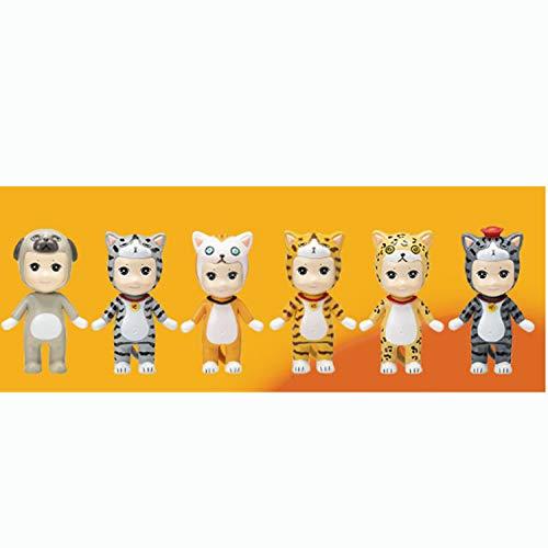 Caja ciega de juguete para niños, juguete de juguete, juguete de animación de muñeca, muñeca, regalo, decoración de gato, un juego tiene seis formas