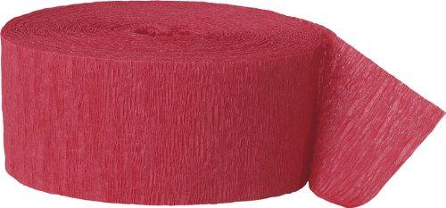 Krepp-Papier Party-Papierschlange - 24 m - Rot