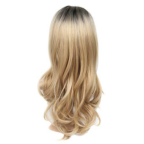 Vovotrade Perruque Femmes Gold Curly Perruque Costume Mode Longs Cheveux 2019 Nouveau Cadeau Chaud d'halloween l'europe et Les États-Unis Perruque de Commerce extérieur africaines Perruque (Or)